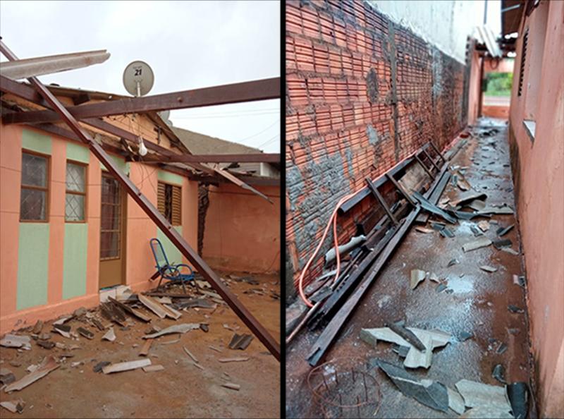 Chuva destrói residência de idosa no Jardim das Oliveiras e família pede ajuda