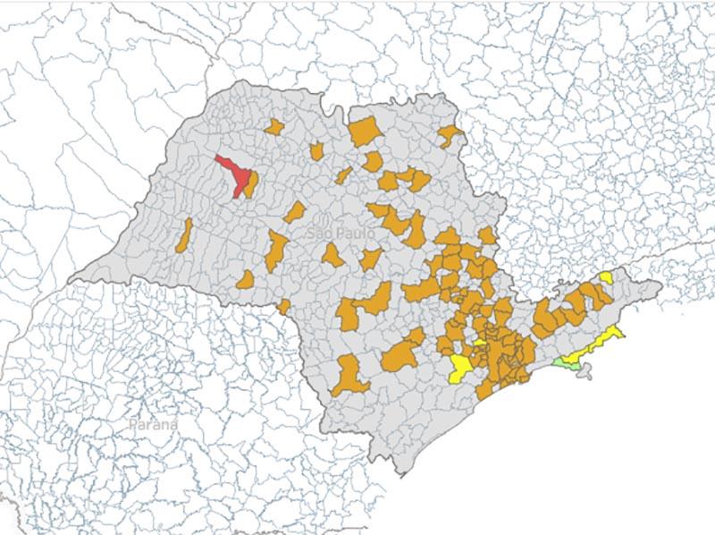 Isolamento social fica abaixo da média estadual em cidades da região