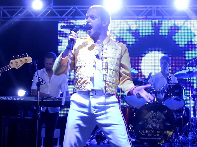 Show do Queen Tribute Brazil é sucesso em Paraguaçu Paulista