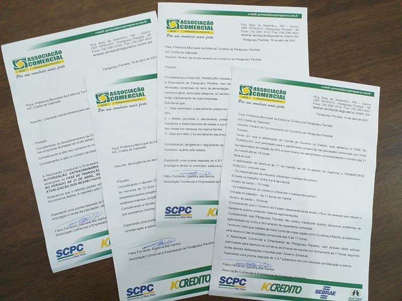 Associação Comercial protocola quatro ofícios com solicitações para a prefeitura