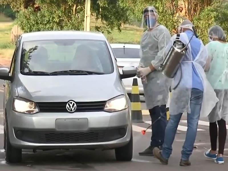Borá instala barreira sanitária após registro do primeiro caso de Covid-19