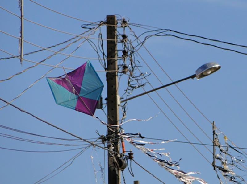 Mais de 30 ocorrências de pipa na rede elétrica foram registradas na região em 2020