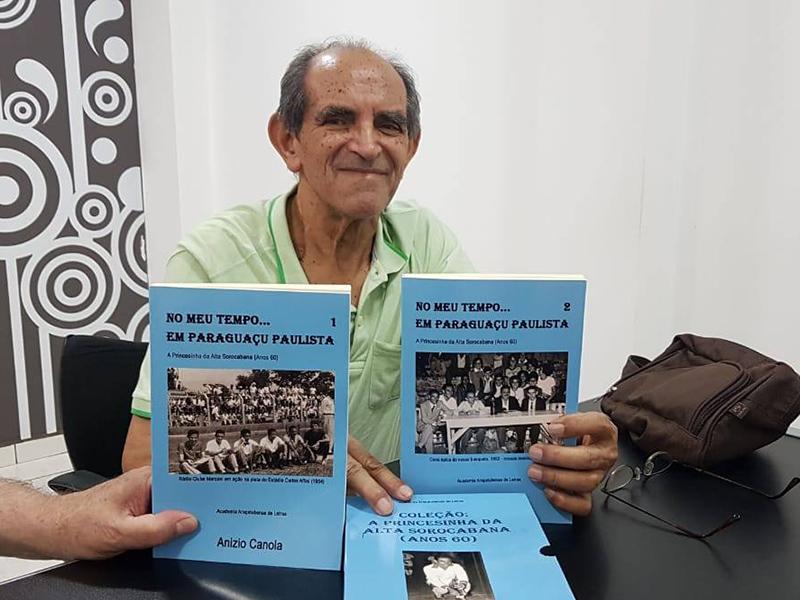 Escritor Anízio Canola lança livro neste sábado, em Paraguaçu