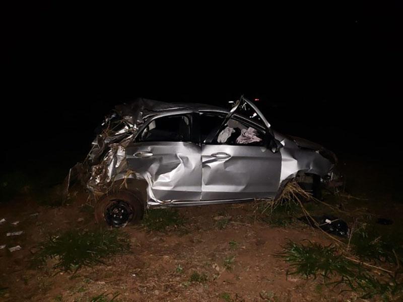 Suspeito morre após capotar carro roubado de motorista de aplicativo em Rancharia