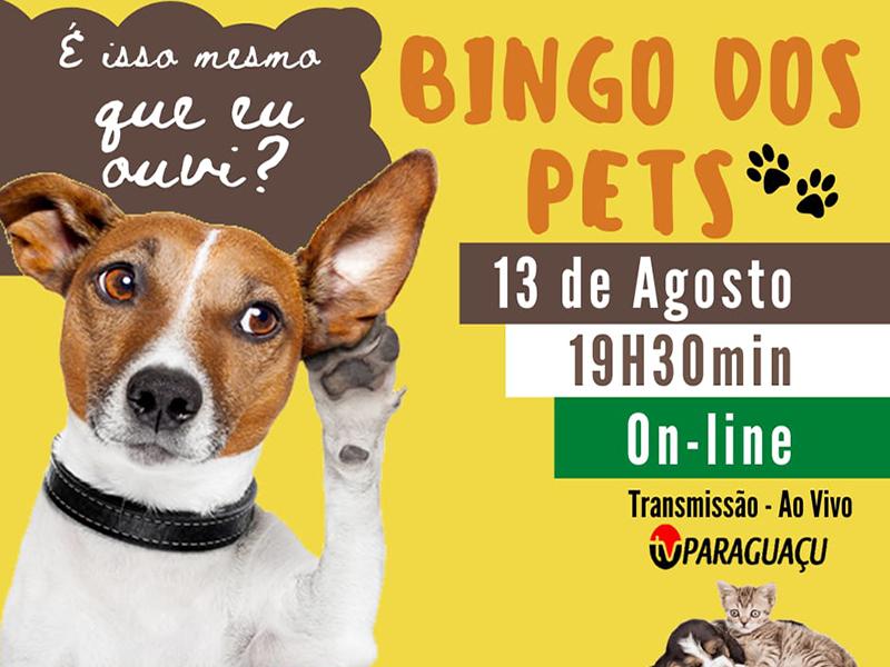 Nesta quinta-feira tem Bingo on-line dos Pets na TV Paraguaçu