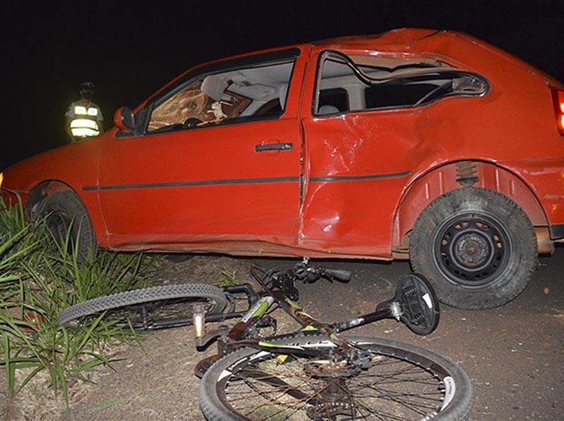 Motorista que atropelou ciclistas em Paraguaçu foi preso por embriaguez