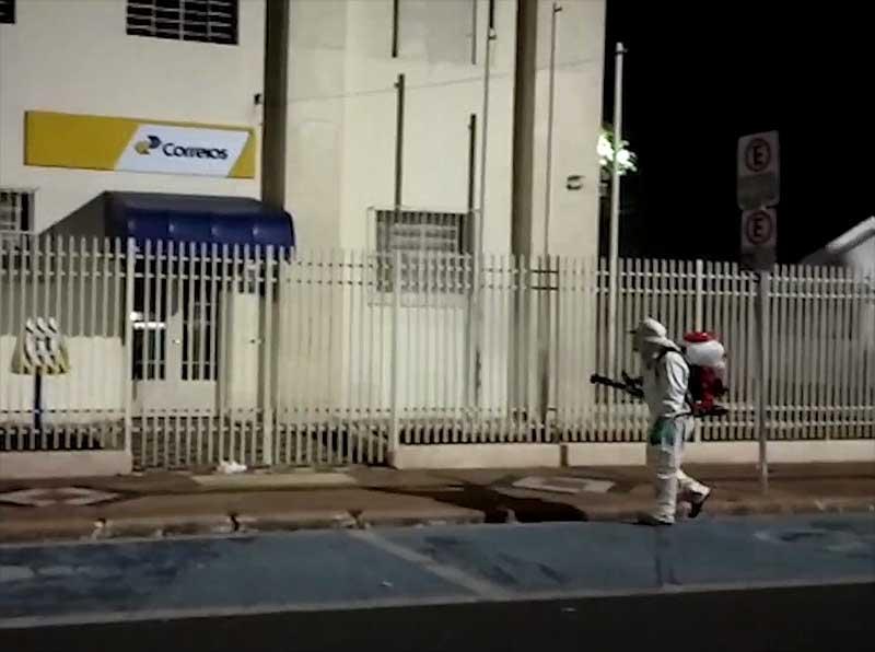 ACE realiza nova sanitização na área central de Paraguaçu Paulista