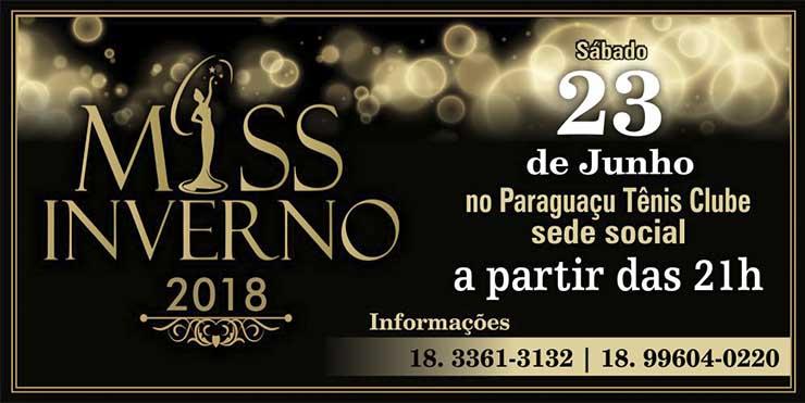 Miss Inverno 2018 terá a participação de 18 candidatas