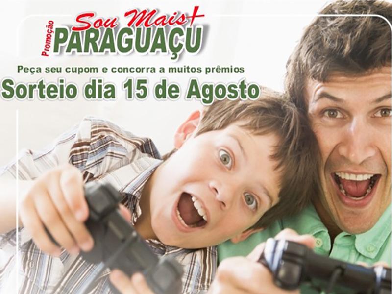 Comércio de Paraguaçu vai sortear vales compras e uma TV no Dia dos Pais