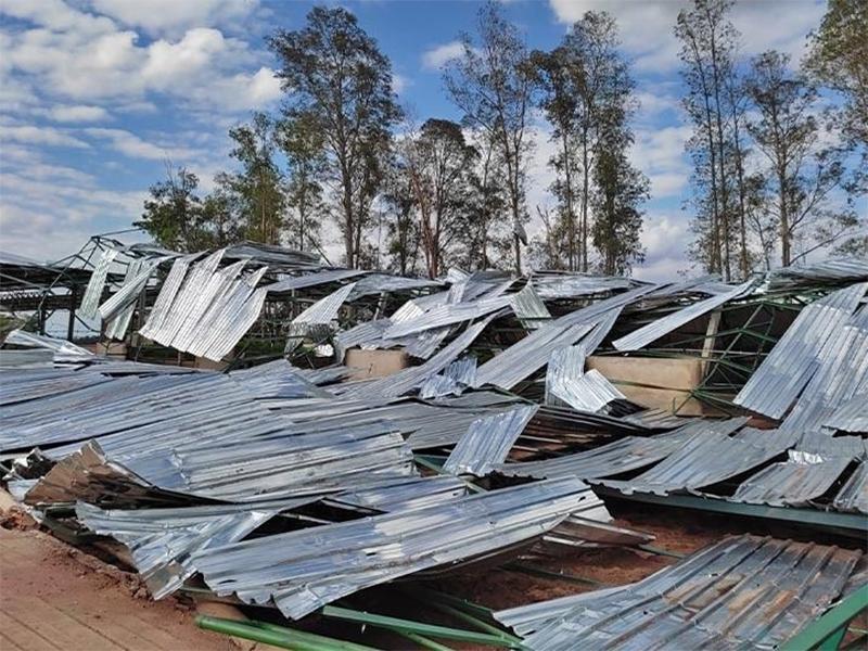 Prefeitura de Assis presta apoio aos locais afetados pelo vendaval do fim de semana