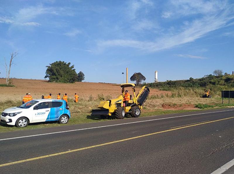 Instalação de fibra ótica prossegue em rodovias da região