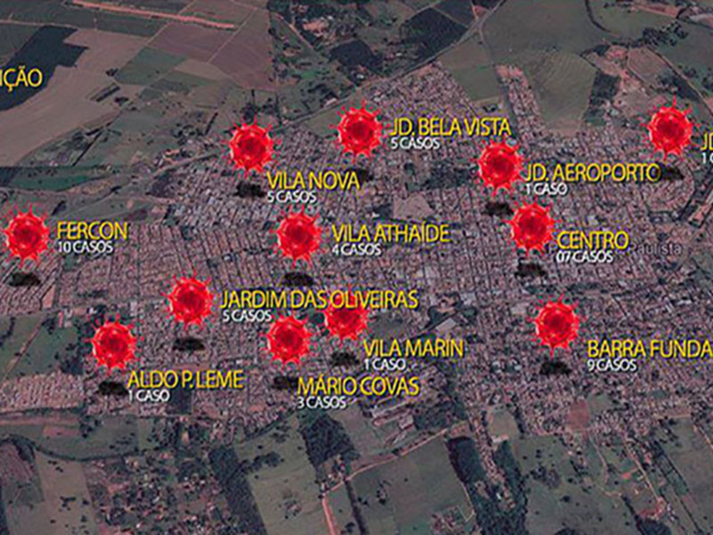 Fercon é o bairro com mais casos de Covid-19 nesta segunda-feira