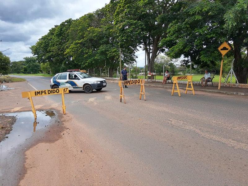 Estrada de Paraguaçu de acesso ao Horto Florestal está interditada