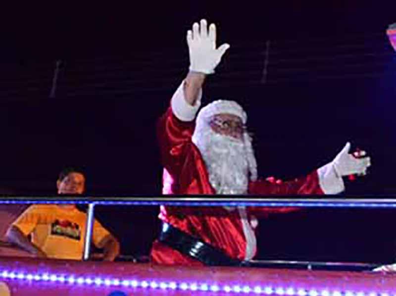 Chegada do Papai Noel será no dia 9 de dezembro em Paraguaçu