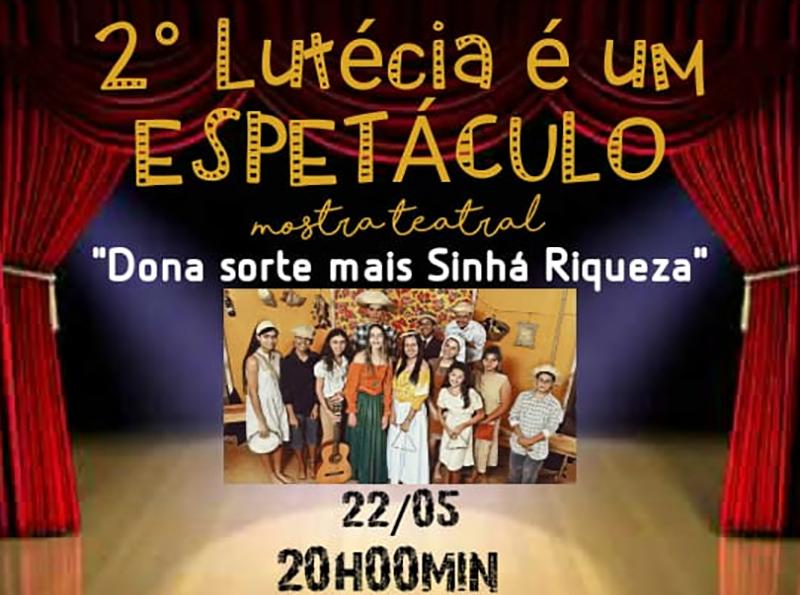 Mostra Teatral agita Lutécia até sexta-feira, dia 24