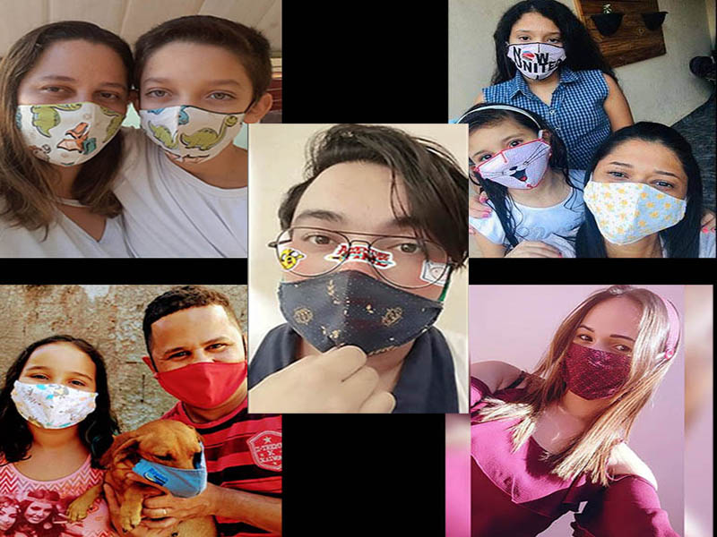 Concurso fotográfico A melhor selfie com máscara tem quase 50 participantes e mais de 8 mil votos