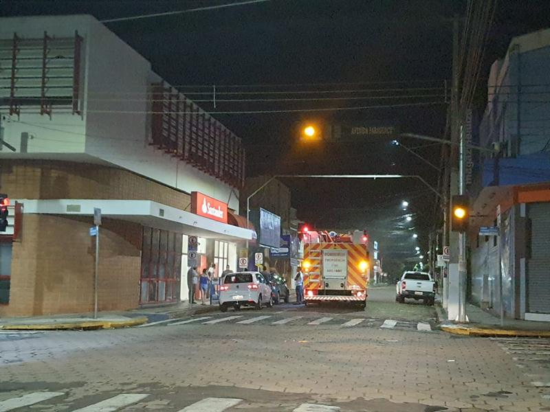 Sistema de segurança do Santander é acionado e mobiliza Bombeiros em Paraguaçu