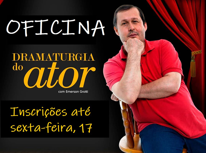 """Cultura de Paraguaçu oferece Oficina """"A Dramaturgia do Ator"""""""