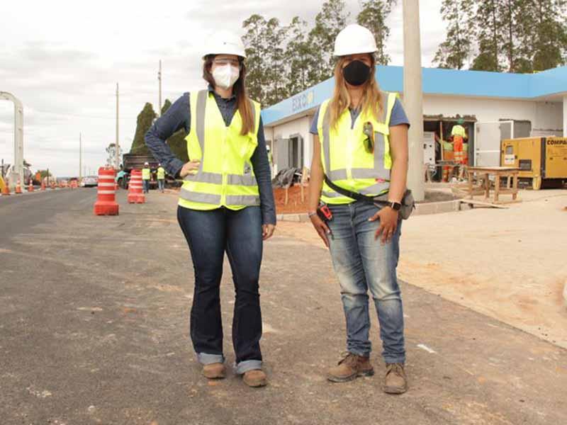 Mulheres se destacam na coordenação de obras em rodovias da região