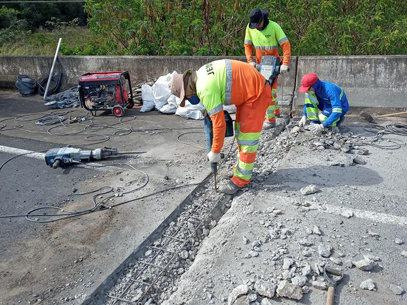 Pontes e viadutos de rodovias recebem manutenção na região