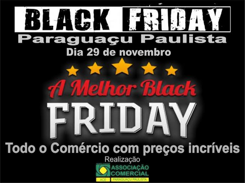 Paraguaçu Paulista participará da Black Friday no dia 29 de novembro