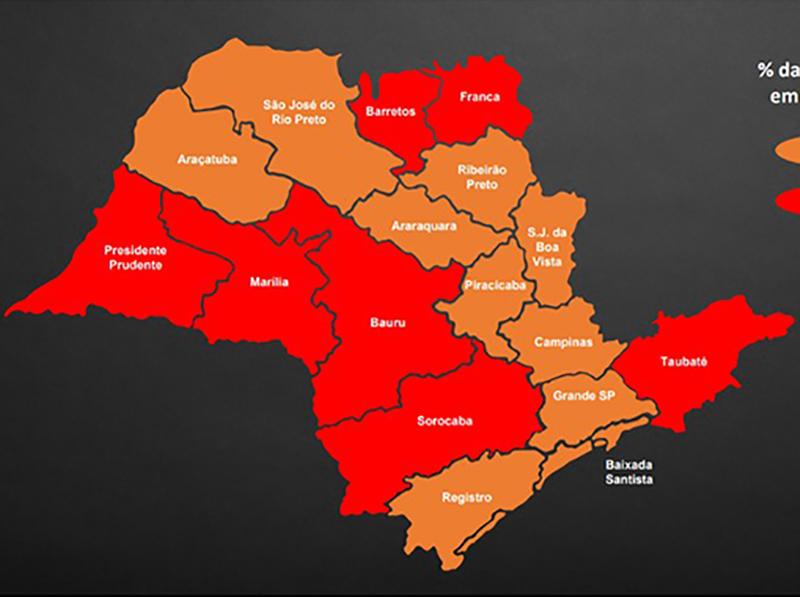 Governo de SP recoloca estado na fase vermelha do Plano SP a partir de segunda