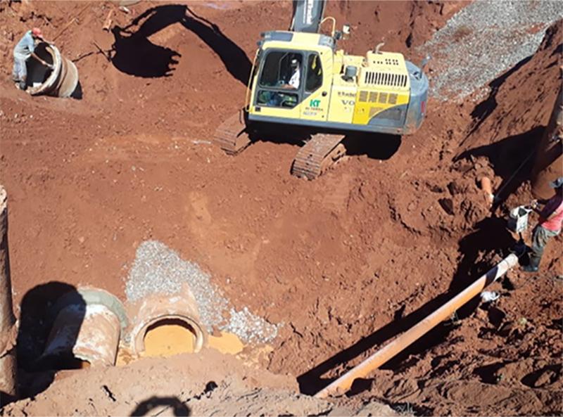 Prefeitura de Paraguaçu finaliza obra de contenção de erosão na Lauro Ferreira Braga