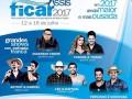 FICAR 2017 terá shows de artistas renomados no cenário nacional